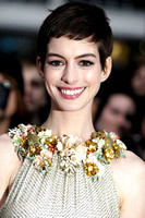 Anne Hathaway attends the European Premiere of The Dark Knight Rises