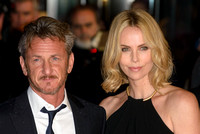 SEAN PENN AND CHARLIZE THERON ATTENDS WORLD PREMIERE OF THE GUNMAN AT BFI SOUTH BANK, LONDON, UK ON 16/02/2015