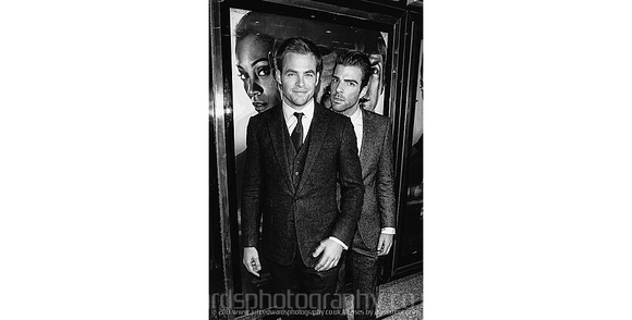 Chris Pine and Zachary Quinto attends UK premiere of Star Trek at Empire Leicester Square, London on 20/04/2009.