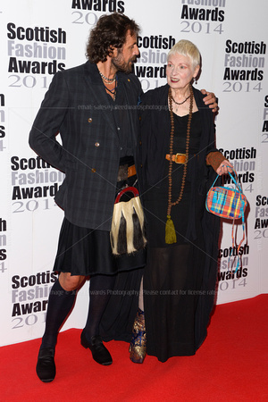 VIVIENNE WESTWOOD ATTENDS SCOTTISH FASHION AWARDS AT 8 NORTHUMBERLAND, LONDON, UK ON 01/09/2014