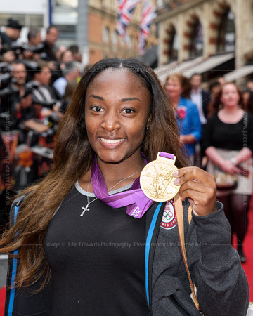 Bianca Knight of the USA's record beating 4 x 100m Relay team attends UK Premiere of the film Expendables 2