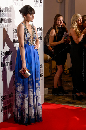 LILAH PARSONS ATTENDS SCOTTISH FASHION AWARDS AT 8 NORTHUMBERLAND, LONDON, UK ON 01/09/2014