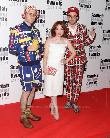 GUESTS ATTENDS SCOTTISH FASHION AWARDS AT 8 NORTHUMBERLAND, LONDON, UK ON 01/09/2014