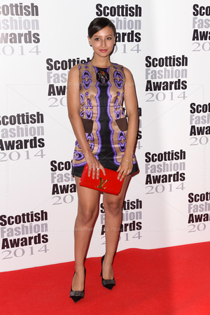 LEAH WELLER ATTENDS SCOTTISH FASHION AWARDS AT 8 NORTHUMBERLAND, LONDON, UK ON 01/09/2014