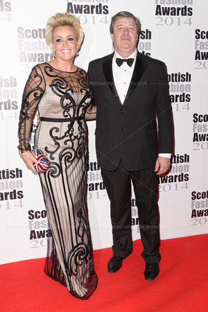 EVENT FOUNDER TESSA HARTMAN AND ALISTAIR CARMICHAEL ATTENDS SCOTTISH FASHION AWARDS AT 8 NORTHUMBERLAND, LONDON, UK ON 01/09/2014