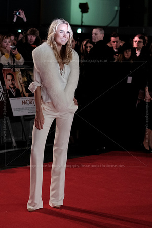 KIMBERLEY GARNER ATTENDS UK PREMIERE OF MORTDECAI AT THE EMPIRE LEICESTER SQUARE, LONDON, UK ON 19/01/2015
