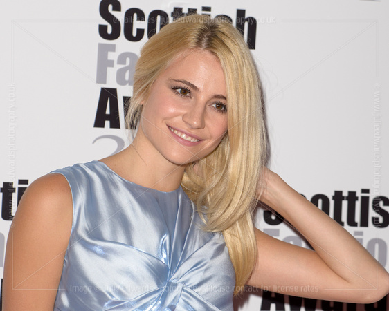 PIXIE LOTT ATTENDS SCOTTISH FASHION AWARDS AT 8 NORTHUMBERLAND, LONDON, UK ON 01/09/2014