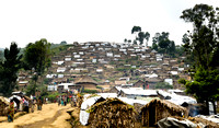 IDP camp at the village of Karonja on the outskirts of Masisi