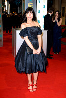 CLAUDIA WINKLEMAN ATTENDS EE BRITISH ACADEMY FILM AWARDS ARIVALS AT ROYAL OPERA HOUSE, LONDON, UK ON 08/02/2015