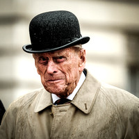 The Duke of Edinburgh at his final solo engagement -The Captain General's Parade on the Buckingham Palace Forecourt in London on Wednesday 2nd August 2017
