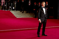 DANIEL CRAIG ATTENDS THE CBTF ROYAL FILM PERFORMANCE 2015: THE WORLD PREMIERE OF SPECTRE AT ROYAL ALBERT HALL, LONDON, UK ON 26/10/2015