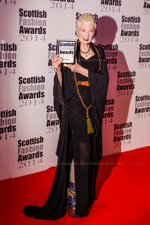 HALL OF FAME ATTENDS SCOTTISH FASHION AWARDS AT 8 NORTHUMBERLAND, LONDON, UK ON 01/09/2014