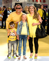 SAM BAILEY ATTENDS THE WORLD PREMIERE OF 'MINIONS'  AT ODEON LEICESTER SQUARE, LONDON, UK ON 11/06/2015
