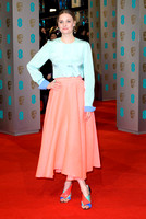 ROMOLA GARAI ATTENDS EE BRITISH ACADEMY FILM AWARDS ARIVALS AT ROYAL OPERA HOUSE, LONDON, UK ON 08/02/2015