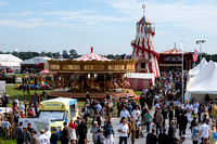 A GENERAL VIEW OF THE CLASSIC FUNFAIR AT GOODWOOD REVIVAL AT GOODWOOD MOTOR CIRCUIT, CHICHESTER,  ON 11/09/2015