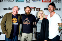 Mentors Barbara Crampton Dominic Brunt and Travis Stevens NEW BLOOD Event for genre screenwriters Barbara Crampton Dominic Brunt Travis Stevens