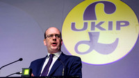 MARK RECKLESS, UKIP MP ATTENDS UKIP SPRING CONFERENCE AT WINTER GARDENS, MARGATE, UK ON 27/02/2015