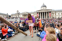 THE PASSION OF JESUS PERFORMED IN TRAFALGAR SQUARE ON GOOD FRIDAY