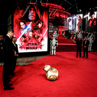 BB8 takes a bow before Prince William and Prince Harry