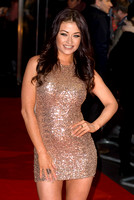 JESS IMPIAZZI ATTENDS WORLD PREMIERE OF THE GUNMAN AT BFI SOUTH BANK, LONDON, UK ON 16/02/2015