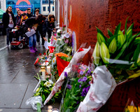 Tributes at the David Bowie Memorial Mural