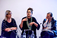 Kate Kinninmont (CEO of Women in Film and TV UK), Corrina Antrobus (BechtelTestFest), Sarah Curtis (independent producer)